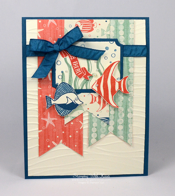 Stampin Up By the Shore and Seaside Shore card by Kristi @ www.stampingwithkristi.com