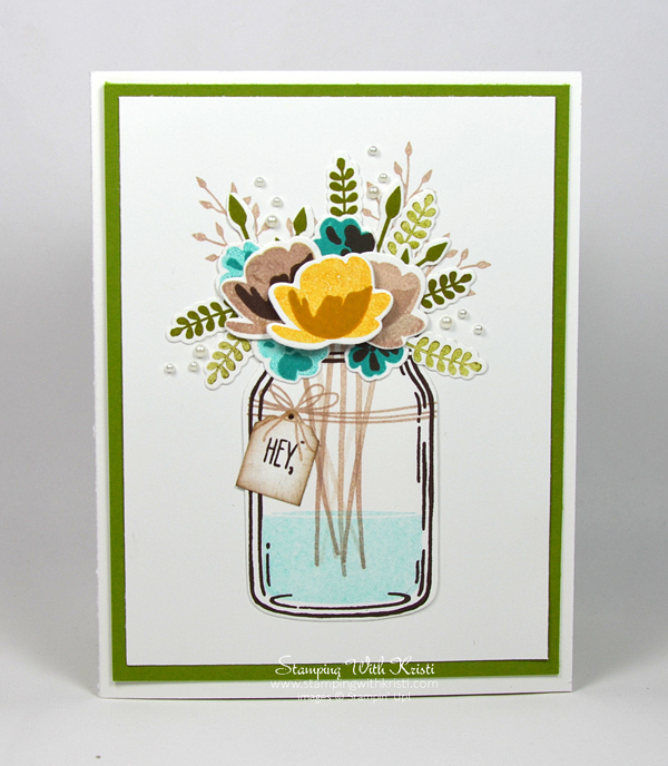 Stampin Up Jars of Love card by Kristi @ www.stampingwithkristi.com