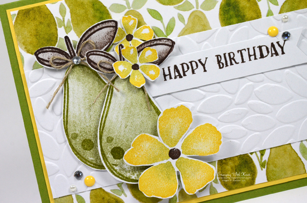 Stampin Up Fresh Fruit card by Kristi @ www.stampingiwthkristi.com