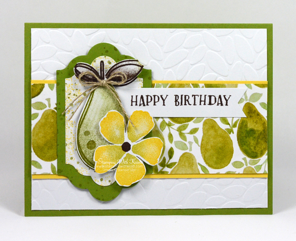 Stampin Up Fresh Fruit card by Kristi @ www.stampingwithkristi