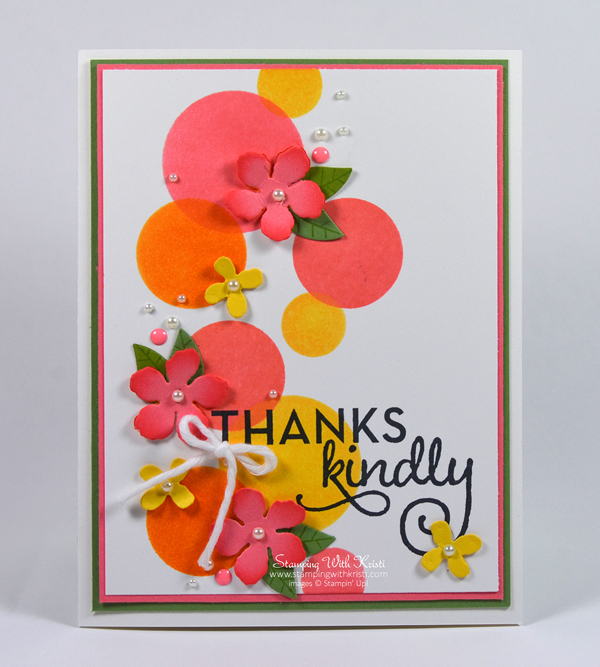 Stampin Up Botanical Blooms card by Kristi @ www.stampingwithkristi.com