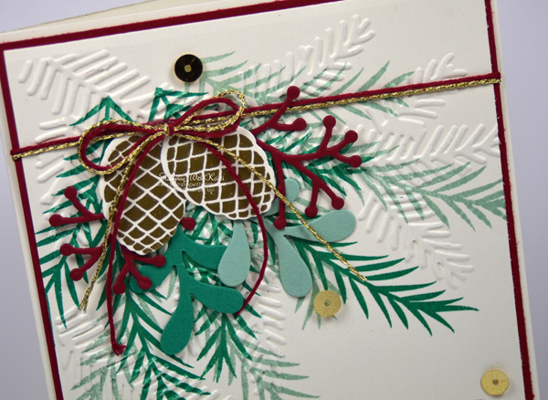 Stampin Up Christmas Pines card by Kristi @ www.stampingwithkristi.com