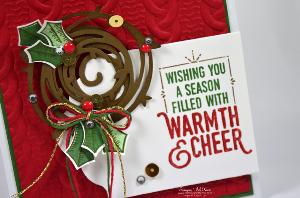 Stampin Up Wrapped In Warmth card by Kristi @ www.stampingwithkristi.com
