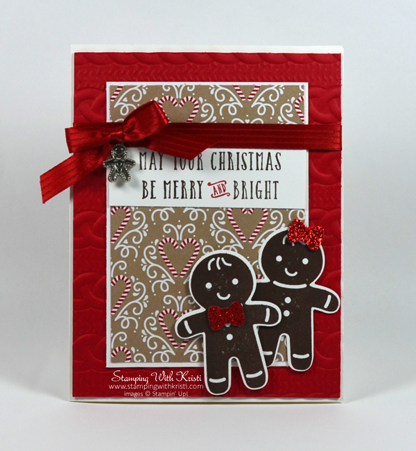 Stampin Up Cookie Cutter Christmas card by Kristi @ www.stampingwithkristi.com