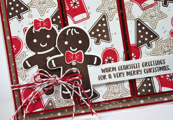 Stampin Up Candy Cane Christmas card by Kristi @ www.stampingwithkristi.com