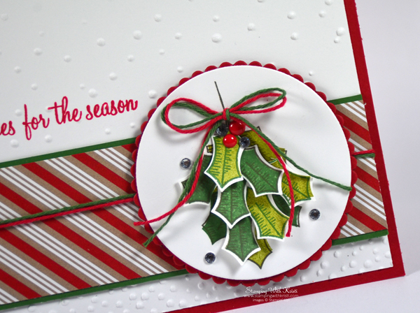 Stampin Up Holly Berry Happiness card by Kristi @ www.stampingwithkristi.com