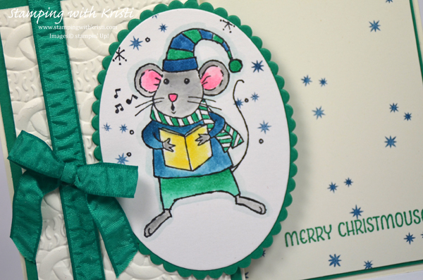 Stampin Up Merry Mice card by Kristi @ www.stampingwithkristi.com