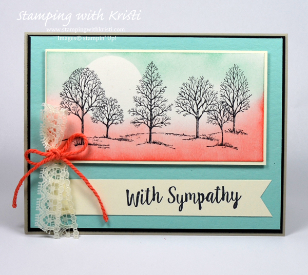 Stampin Up Lovely As A Tree card by Kristi @ www.stampingwithkristi.com