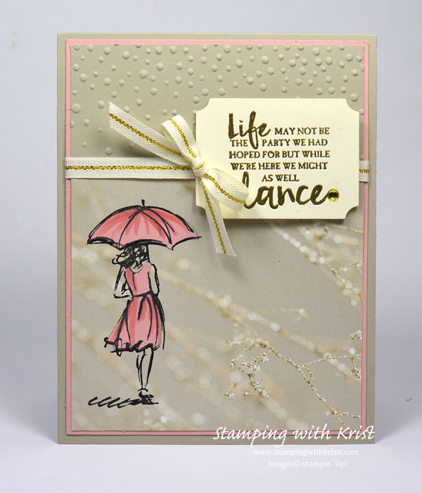 """stampin' up another """"beautiful you"""" card  stamping with"""