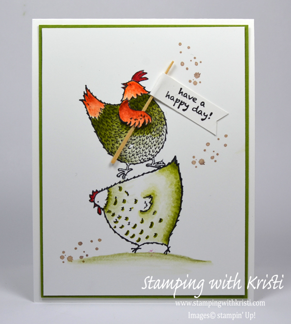 Stampin Up Hey Chick card by Kristi @ www.stampingwithkristi.com