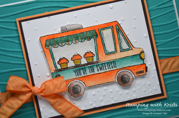 Stampin Up Food Truck card by Kristi @ www.stampingwithkristi.com