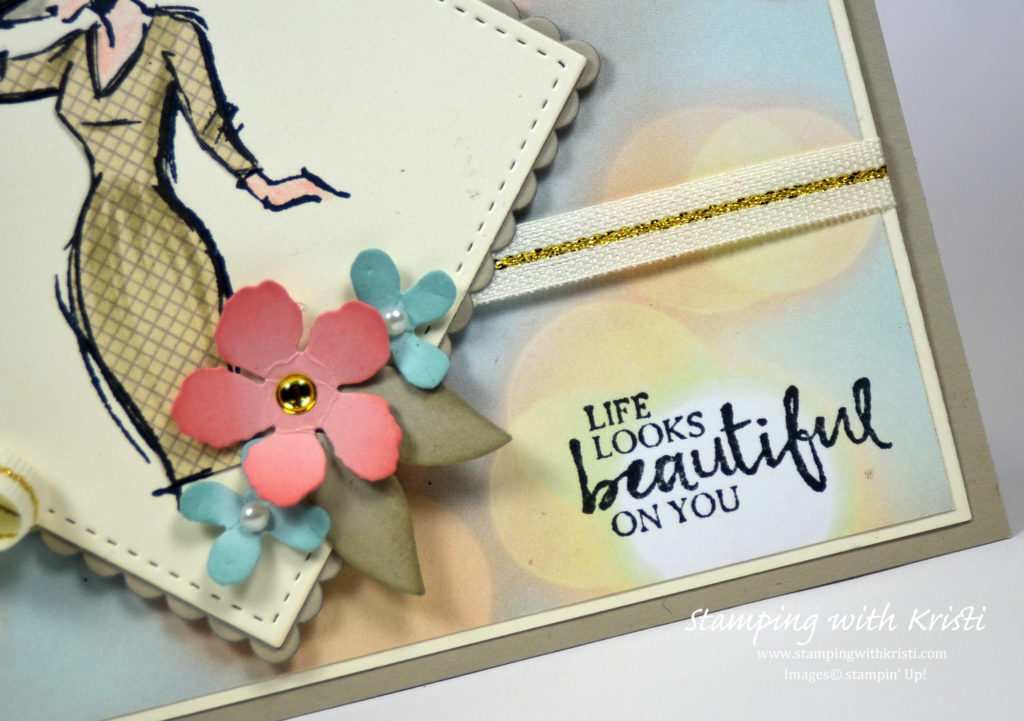 Stampin Up Beautiful You card by Kristi @ www.stampingwithkristi.com