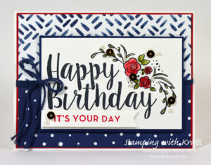 Stampin Up Big on Birthdays card by Kristi @ www.stampingwithkristi.com