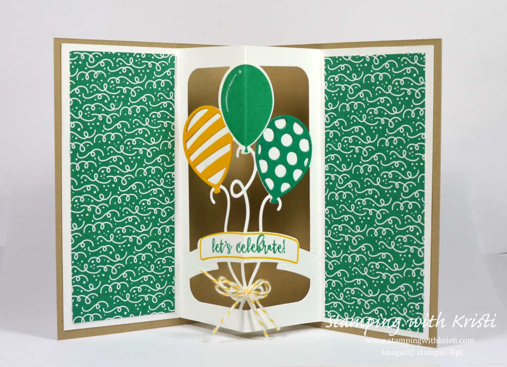 Stampin Up Balloon Adventure card by Kristi @ www.stampingwithkristi.com
