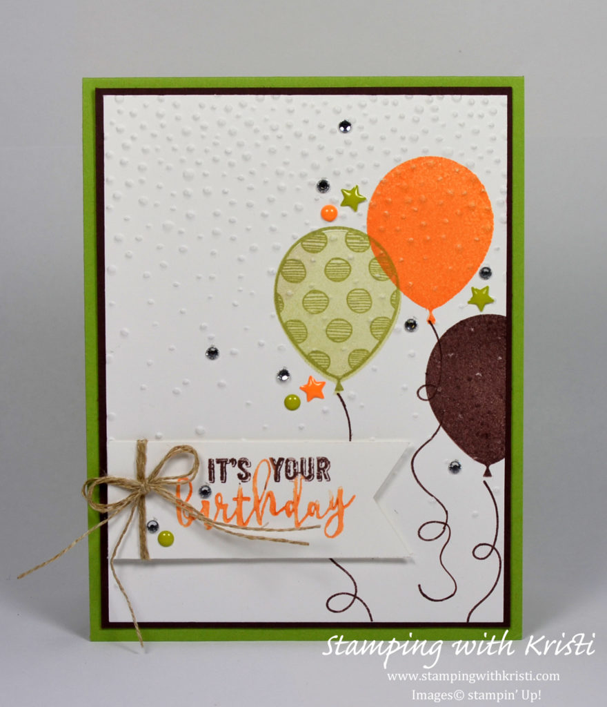 Stampin Up Balloon Adventure card by Kristi @ www.sstampingwithkristi.com
