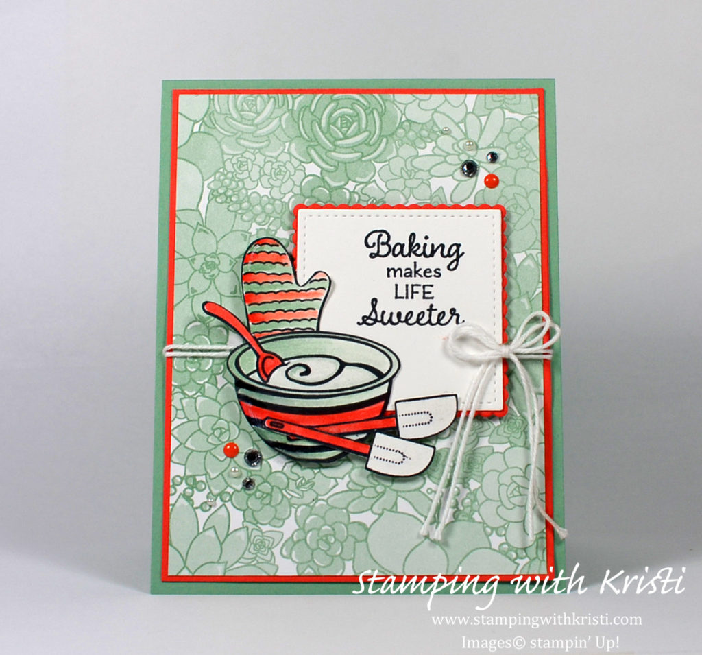 Stampin Up Perfect Mix card by Kristi @ www.stampingwithkristi.com