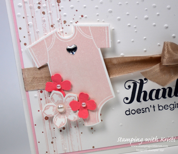 Stampin Up Something for Baby card by Kristi @ www.stampingwithkristi.com