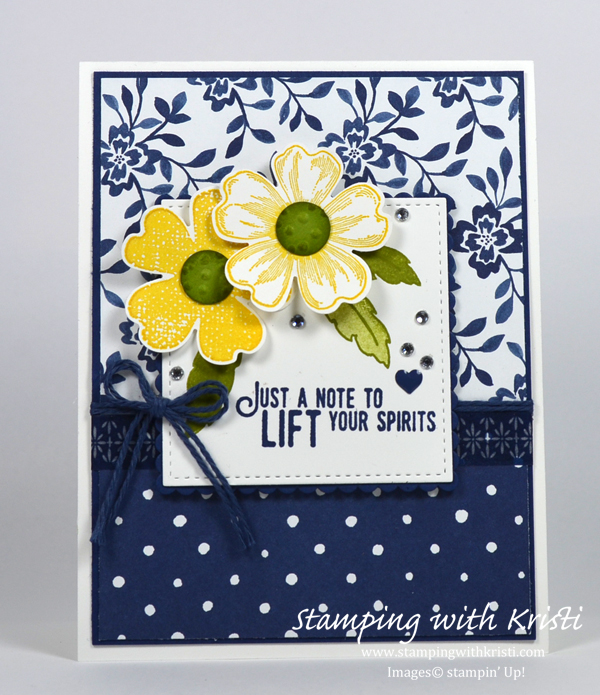 Stampin Up Flower Shop card by Kristi @ www.stampingwithkristi.com