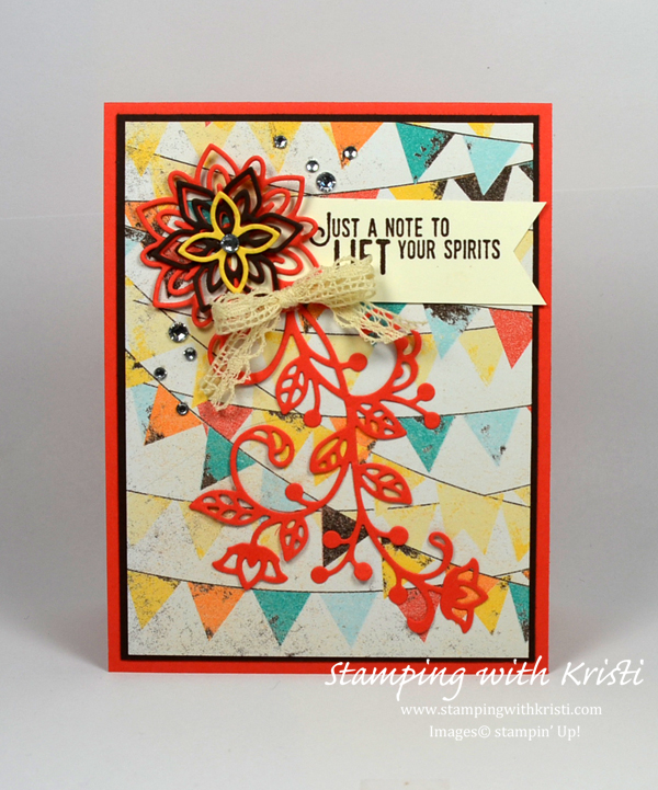 Stampin Up Flourish Thinlits card by Kristi @ www.stampingwithkristi.com