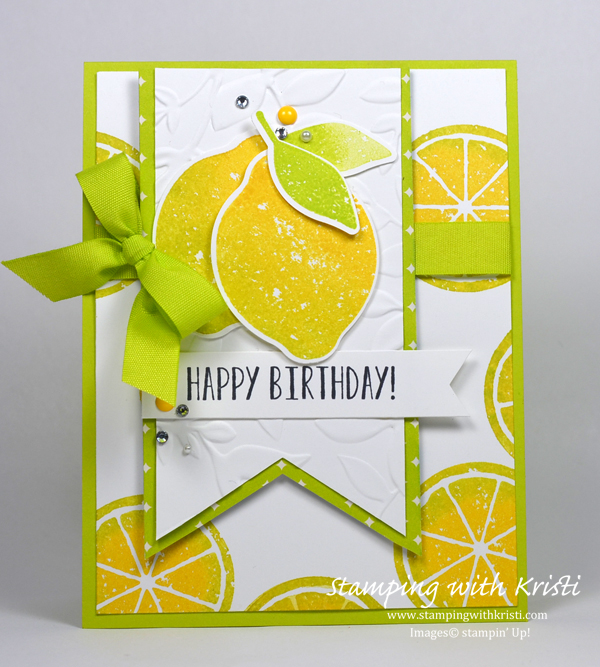 Stampin' Up! Lemon Zest card by Kristi @ www.stampingwithkristi.com