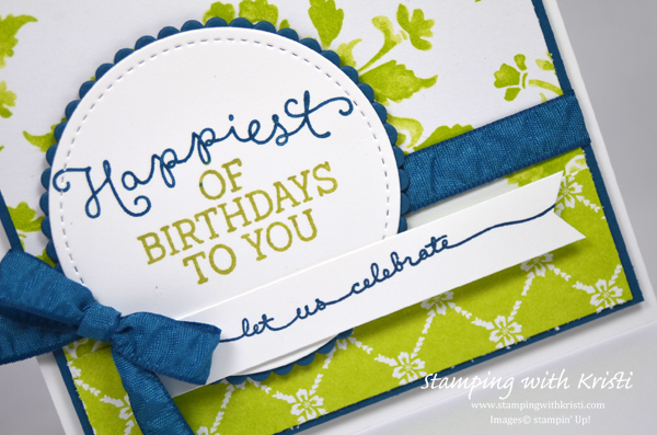Stampin Up Fresh Florals card by Kristi @ www.stampingwithkristi.com