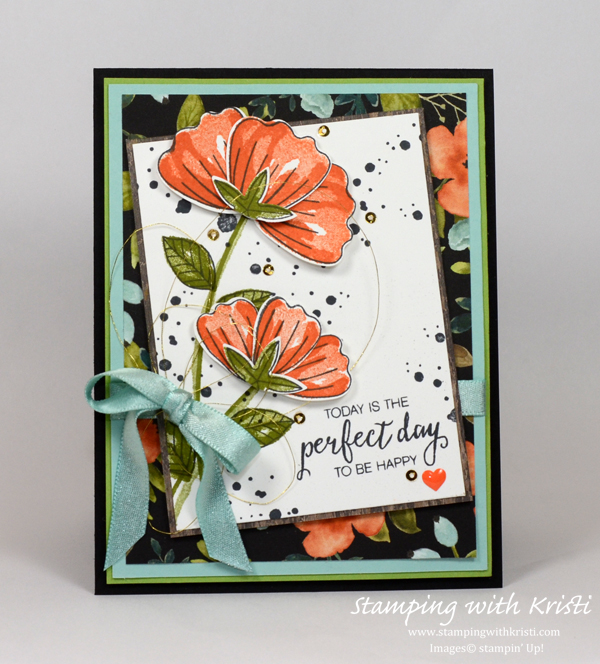 Stampin' Up! Bunch of Blossoms card by Kristi @ www.stampingwithkristi.com