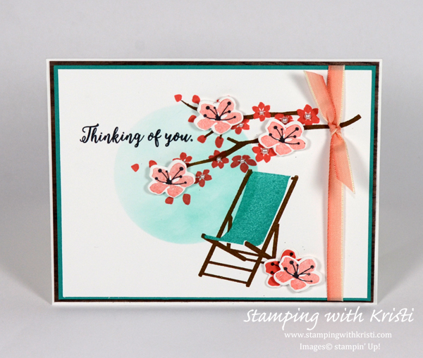 Stampin Up Colorful Seasons card by Kristi @ www.stampingwithkristi.com