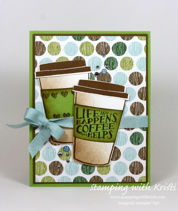 Stampin Up Coffee Cafe card by Kristi @ www.stampingwithkristi.com