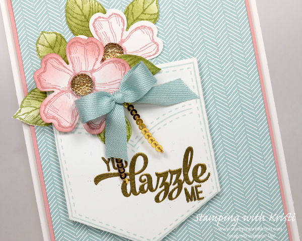 Stampin' Up! Pocket Full of Sunshine card by Kristi @ www.stampingwithkristi.com