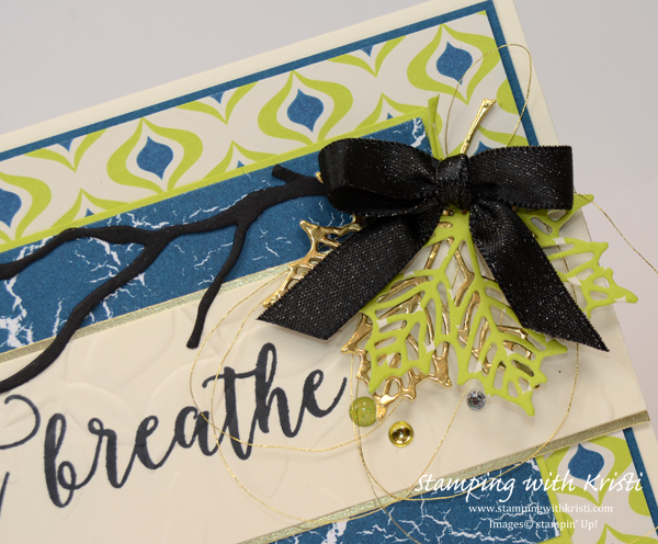Stampin' Up! Colorful Seasons card by Kristi @ www.stampingwithkristi.com