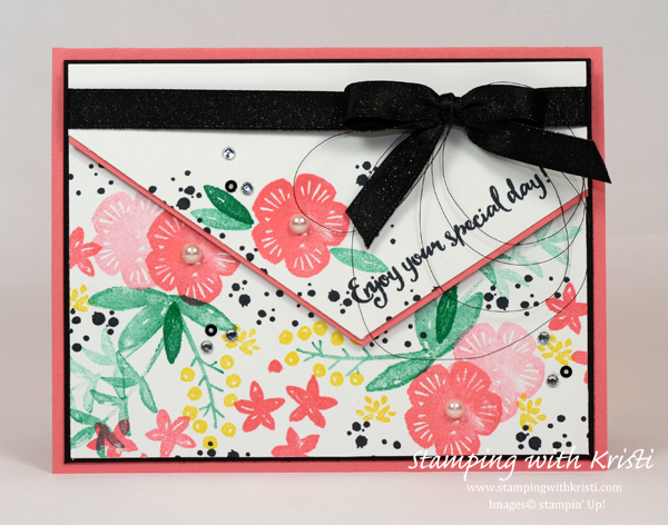 Stampin' Up! Orange Blossom card by Kristi @ www.stampingwithkristi.com