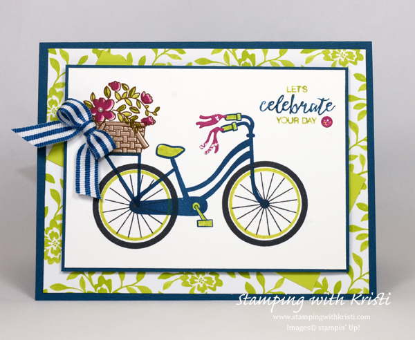 Stampin Up Bike Ride card by Kristi @ www.stampingwithkristi.com