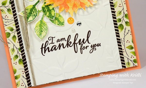 Stampin' Up! Painted Harvest card by Kristi @ www.stampingwithkristi.com