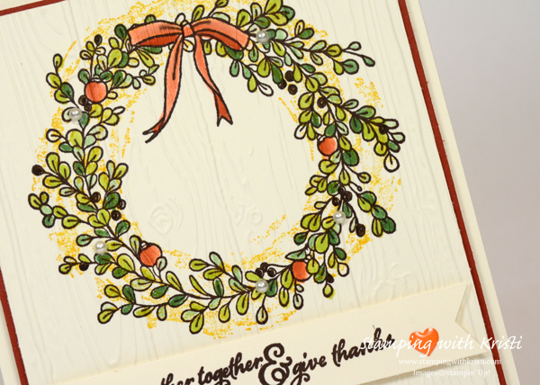 "Stampin' Up! ""Feelings of Christmas card by Kristi @ www.stampingwithkristi.com"
