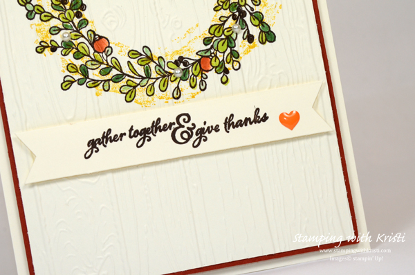 """Stampin' Up! """"Feelings of Christmas card by Kristi @ www.stampingwithkristi.com"""