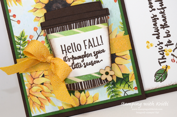 Stampin' Up Merry Cafe and Coffee Cafe card by Kristi @ www.stampingwithkristi.com