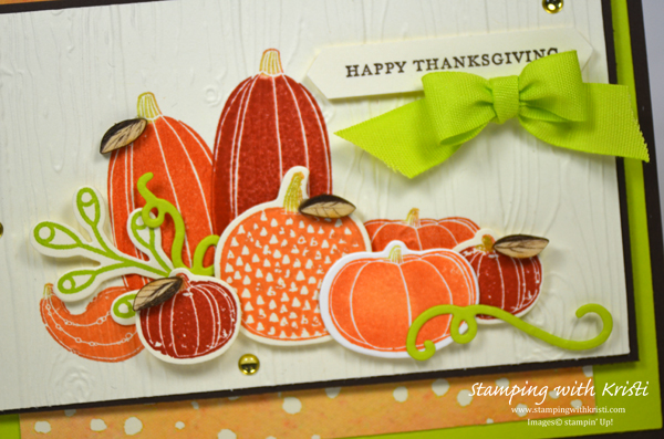 Fall card, Pick a Pumpkin, Stampin Up, card by Kristi Gray, Stampin Up demonstrator Kristi Gray
