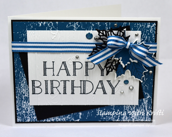 Stampin Up Color Theory card by Kristi @ www.stampingwithkristi.com