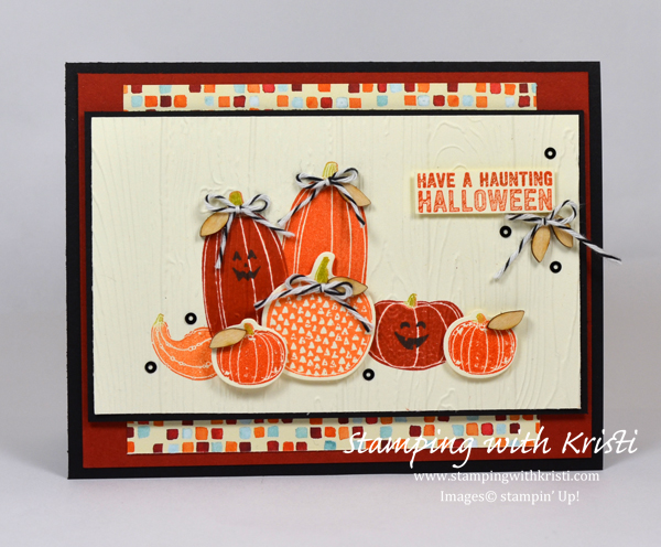 Fall card, Pick a Pumpkin, Stampin Up, Kristi Gray, Stampin Up Demonstrator Kristi Gray, Halloween card