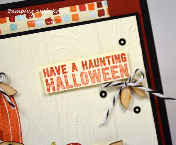Fall card, Halloween card, card by Kristi Gray, Stampin Up
