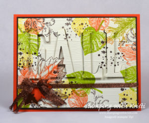 Fall card, Stampin' Up!, Vintage Leaves,www.stampingwithkristi.com, Kristi Gray Stampin Up Demonstrator, Eclispe card,