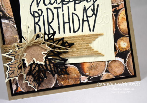 Stampin Up, Wood Texture, Masculine card, Kristi Gray, www.stampingwithkristi.com