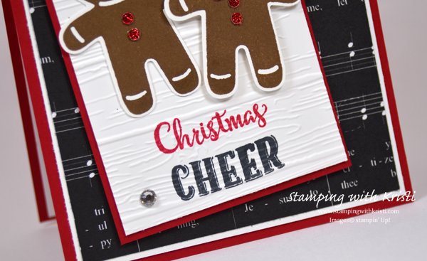Stampin Up Cookie Cutter Christmas card by Krisit @ www.stampingwithkristi.com