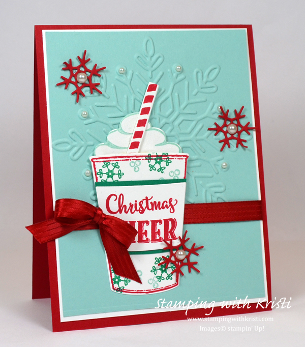 Stampin' Up! Winter Wonder and Merry Cafe card by Kristi @ www.stampingwithkristi.com