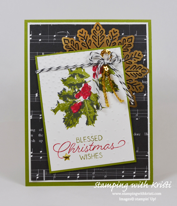 Stampin Up, Good Tidings, card by Kristi Gray, www.stampingwithkristi.com, Christmas card,