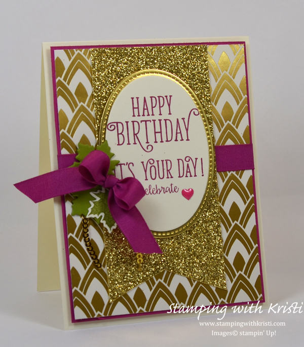Stampin' Up! Happy Birthday Gorgeous card by Kristi @ www.stampingwithkristi.com