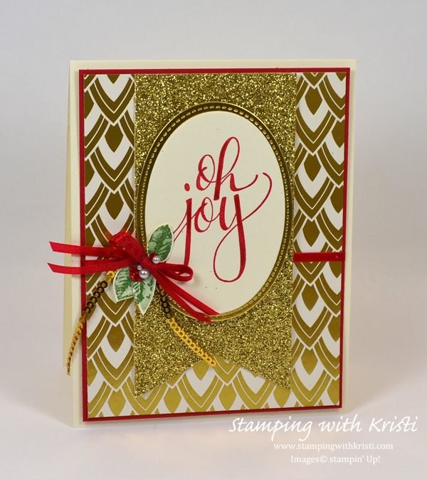 Stampin' Up! Watercolor Christmas card by Kristi @ www.stampingwithkristi.com