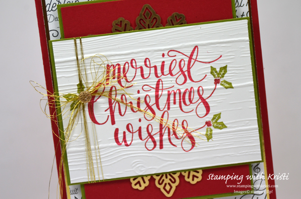 Stampin' Up! Another Watercolor Christmas card by Kristi @ www.stampingwithkristi.com