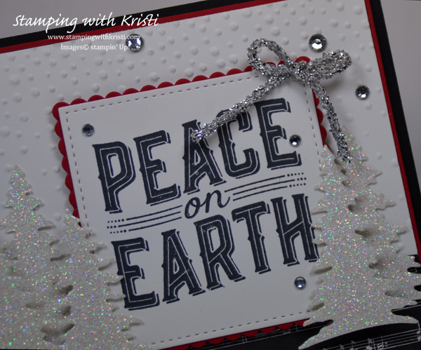 Stampin' Up! Carols of Christmas and Card Front Thinlits card by Kristi @ www.stampingwithkristi.com