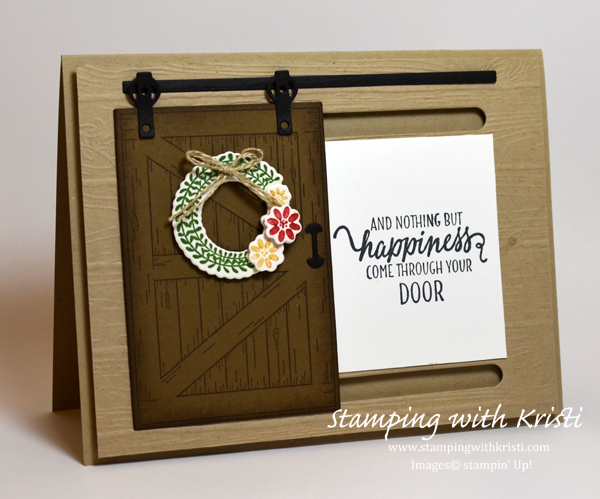 Stampin' Up! Barn Door card by Kristi @ www.stampingwithkristi.com